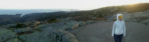 Jen on Cadillac Mountain. Acadia National Park